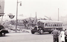 1940 Snapshot of wreckage of Hollingshead Co explosion & fire, Camdon NJ