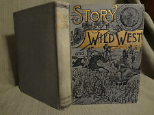 1901 Wild West Old Camp Fire Chats Buffalo Bill Davy Crockett Scout Antique Book
