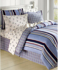 Red White Blue Sailboat Nautical Anchor Queen Comforter Set (8 Piece Bed In Bag)