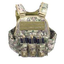 Camo Molle Tactical Vest Plate Carrier Triple AR-15 / Pistol  Mag Pouch