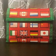 United Colors of Benetton Trifold Wallet Nylon Flags Red/green