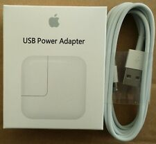 iPad 2/3/4 Wall Charger USB power Adapter 12W Authentic +6 ft Lightning Cable
