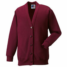 Childrens Cardigan School Uniform Boys Girls 10 Colours Age 3 - 12 Yrs Free PnP