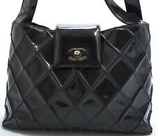CHANEL Tasche Bag Elegante Matelace Schultertasche Shoulder Bag Lackleder Enamel