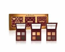 LORAC The Royal Eye Shadow Palette Set of 3 Plum Velvet Gold Satin Silver Silk
