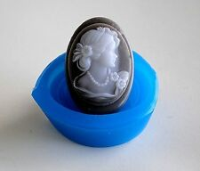 Beautiful Lady - Soap Silicone Mould, Soap making - mold  PLASTER CANDLE CLAY