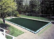 16'x32' Winter Swimming Pool Cover and 10 Water Tube Kit for Inground Pools