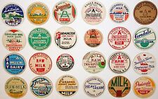 Vintage milk bottle caps LOT OF 24 DIFFERENT originals #37 unused new old stock