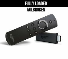 Amazon Fire TV STICK FIRESTICK w/ VOICE  JAILBROKEN TYPE Fully Loaded !!