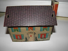 Vintage Built-Rite Cardboard House No. 4 Railroad Christmas Village