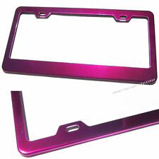 For GMC Honda Hyundai Hot Pink Powder Coated Stainless Steel License Plate Frame