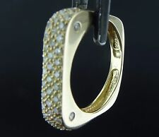 Square 14k Solid Yellow Gold Pave Diamond Band Ring Sz-5.5 0.44tcw Stacker RG528