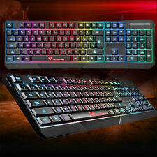 K70 Waterproof Gaming Keyboard USB Colorful LED Illuminated Backlit For Gamer