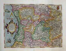 1603 Ortelius (Settala) Map DUCHY OF MILAN, LIGURIA Fine Decorative Elements!