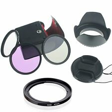 67mm UV CPL FLD Filter Set + Lens Hood+Cap for Canon PowerShot SX50 SX40 HS