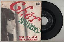 """CHER - SUNNY / WILL YOU LOVE ME TOMORROW 45 giri 7"""" liberty LIB12037 1966 IT"""