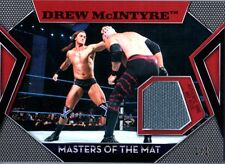 WWE Drew McIntyre RED Topps 2011 Masters of Mat Event Used Relic Card SN 1 of 1