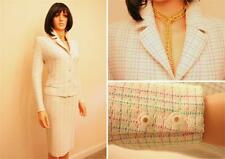 STUNNING ST.JOHN COLLECTION KNIT MULTICOLORED 2PC.SUIT JACKET SKIRT,SZ8 10 CHIC!