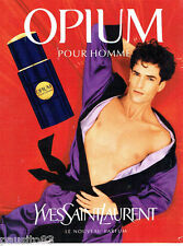 PUBLICITE ADVERTISING 096  1995   parfum  Opium par Yves Saint Laurent  homme