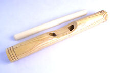 "WOODEN AFRICAN CLAVE - 12"" Hardwood Maple Hand Percussion Claves / rhythm stick"
