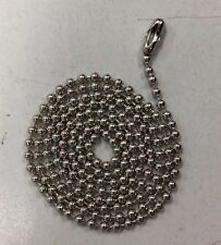 "10 Stainless Steel Ball Chains 30"" Dog tag Bead Chain"