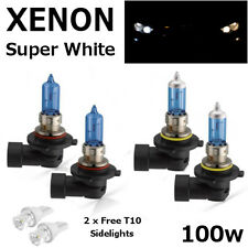 HB3 HB4 100w SUPER WHITE XENON UPGRADE HID Bulbs Set 12v Lexus GS300 IS200 RX300