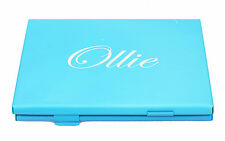 Business Name Card Holder ID Credit Card Case Fine Box Holder Blue