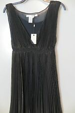 NWT Studio M Brown Glimmer Double Layer Ruffled Sleeveless Cocktail Dress Size M
