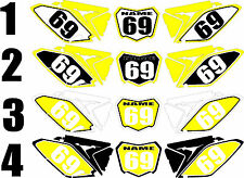2010-2015 Suzuki RMZ250 RMZ 250 RM-Z Number Plates Side Panels Graphics Decal