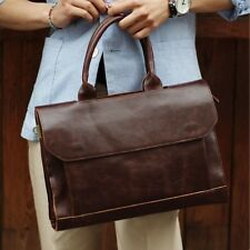 Fashion Men's Leather Briefcase Handbag Messenger Shoulder Bag Laptop Satchel