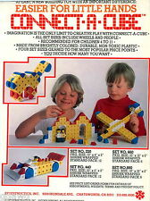 1977 ADVERT Connect A Cube Synesructics Inc Construction Toy Lego Like