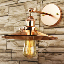 Industrial Retro Vintage Copper Metal Lamp Shade DIY Pendant Wall Light Fitting