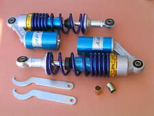"11"" 280mm A pair air Rear Shocks Asorber 50cc 70cc 90cc Scooter Moped Blue"
