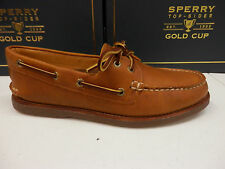 SPERRY TOP SIDER MENS BOAT SHOE GOLD CUP A/O 2-EYE TAN GUM SIZE 11 WIDE