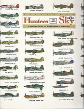 WWII . Visual Guide Aircraft . Hunters in the Sky 20x20 Poster Brilliant Illus