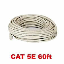 60FT Feet CAT5 Cat5e Ethernet Patch Cable - RJ45 Computer Networking Wire Cord