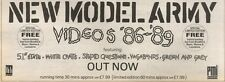 19/8/89Pgn25 Advert: 'new Model Army Video's '86-'89' Feat. Vagabonds 4x11