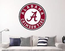 Alabama Crimson Tide NCAA Wall Decal Sports Football Sticker Vinyl Decor Size
