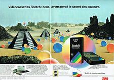 PUBLICITE ADVERTISING 115  1989  Scotch Vhs  vidéocassettes E-240 (2p)