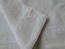 "ANTIQUE FRENCH  LINEN SHEET 91"" x 99"". ANTIQUE WHITE Slipcover Upholstery Fabric"