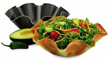 Chicago Non Stick 2 Set Large Tortilla Shell Pans Taco Salad Mold Bowl Maker NEW