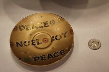 Rare Collectible Starbuck Coffee  Gold Color Plate 2006 NOEL JOY.