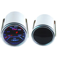 """Car Motor Universal Smoke Tint Len 2"""" 52mm Indicator Oil Temp Gauge Kit Meter"""