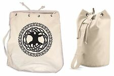 CELTIC TREE OF LIFE DUFFLE BAG - College Rucksack Gym Druid Backpack Pagan Wicca