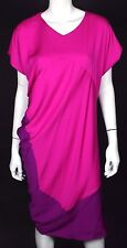 NARCISO RODRIGUEZ Magenta & Purple Crepe Silk Shift Dress 42