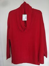 NWT Ladies Plus Sweater Laura Scott  Cowl Neck Tango Red Size 2 X large
