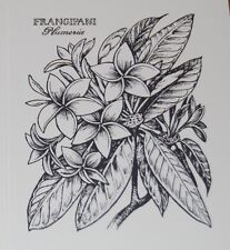 PSX 6 stamped IMAGES ONLY Botanical Flower Frangipani Personal Stamp Exchange