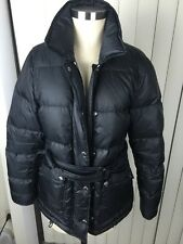 Aquascutum London Women's Black Down Puff Jacket W Belt 40