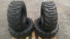 4 NEW 10-16.5 Skid Steer Tires with Rimguard -10X16.5 10 PLY-for Bobcat & others