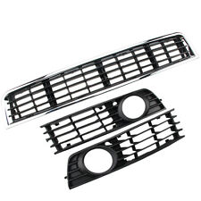 FRONT FOG LIGHTS LIGHT GRILLES GRILL SET for 02-05 Audi A4 B6 Sedan